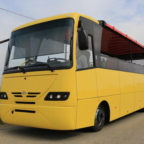 Yellow Open Bus
